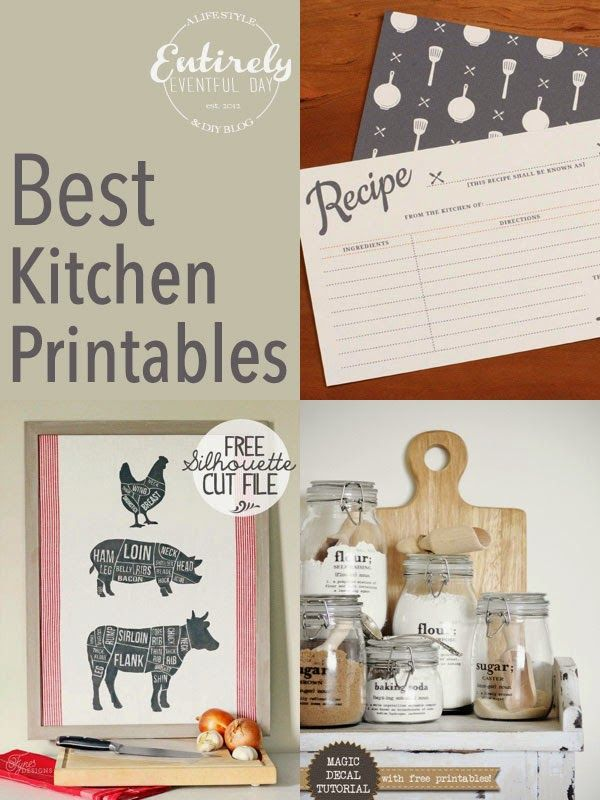 Adorable image throughout kitchen printable
