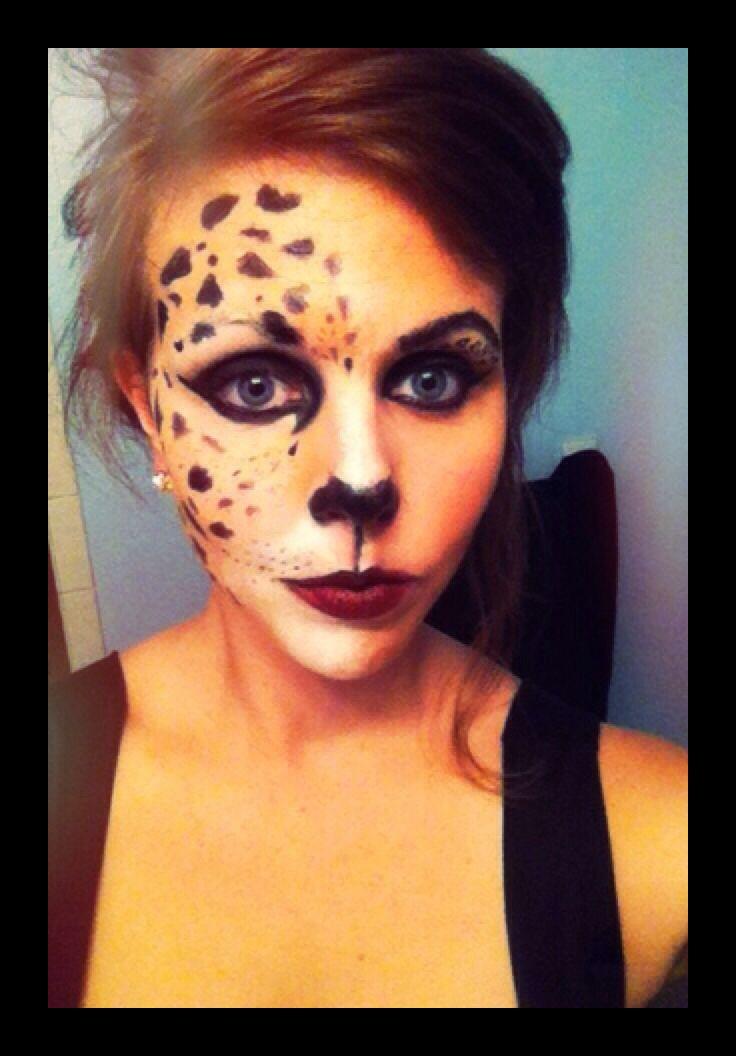 cheetah face paint - Halloween Face Paint Ideas For Adults
