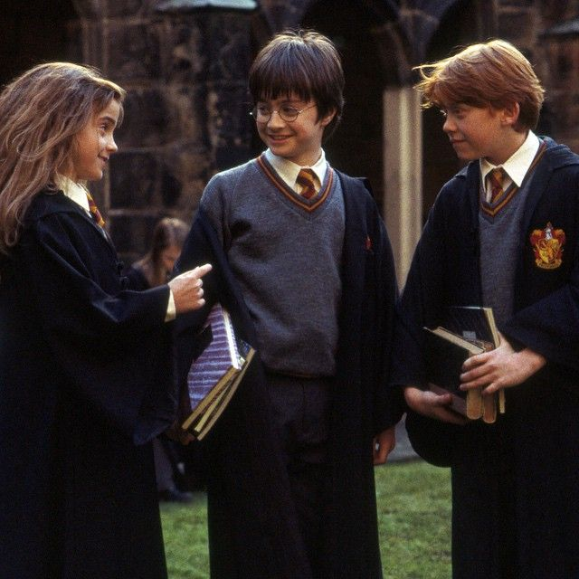 """""""I remember the kids on the first day of shooting. They were completely awestruck. They could not for the life of them stop looking at the lights, stop looking into the camera… They couldn't stop smiling because they were so happy to be there."""" - Chris Columbus #HarryPotter"""