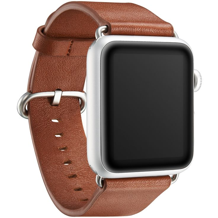 "KAVAJ genuine leather watch band ""Barcelona"" for Apple Watch Series 1 & 2 42mm in cognac-brown. This genuine leather replacement watch strap with classic buckle makes the ideal accessory."