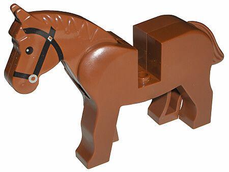 Lego bruin paard.