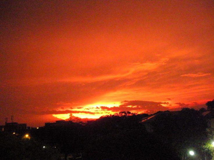 Amanecer luego de un torrencial aguacero en La Guajira.