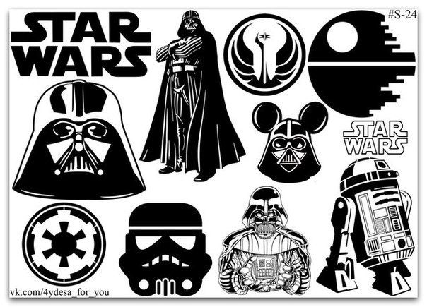 Black and white sticker pack 3 sheet | Planner diary Stickers | STAR WARS | Nerd cute | Moon and cats |Rogue Jedi Soth|Skywalker Darth Vader by topstickerdesigns on Etsy