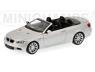 This BMW M3 Cabriolet E93 (2008) Diecast Model Car is Silver and features working wheels. It is made by Minichamps and is 1:43 scale (approx. 9cm / 3.5in long).  ...