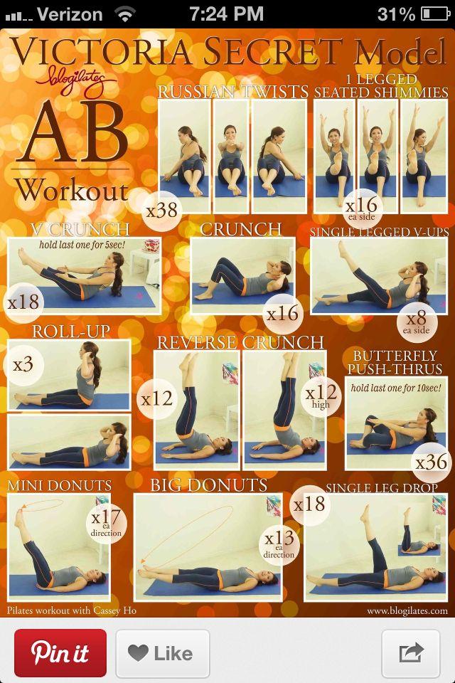 Victoria secret model abs workout