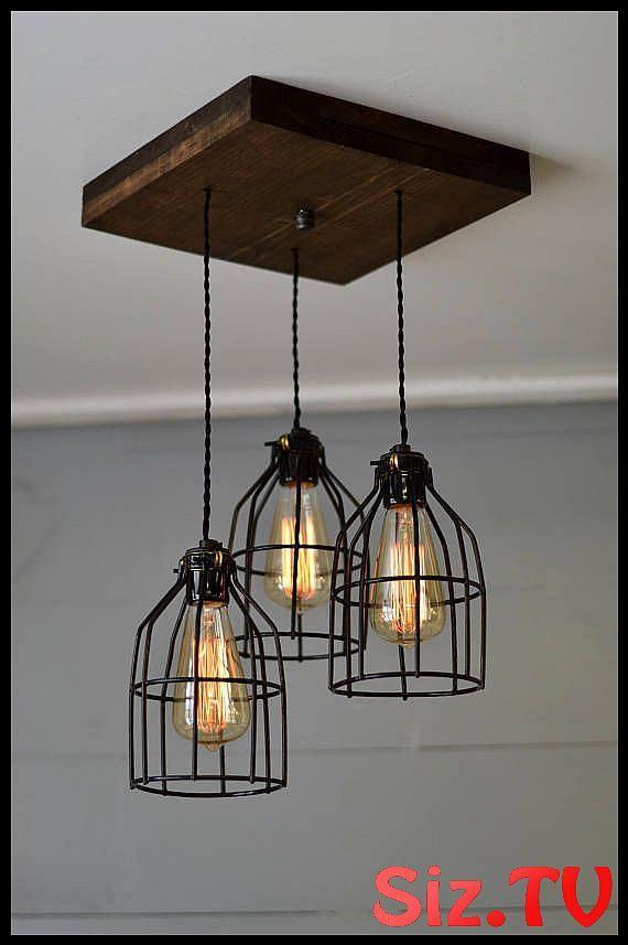 Farmhouse Light Reclaimed Wood Chandelier Light Fixture Farm Light