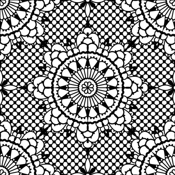 Fijn grafische zwart wit bloemenpatroon, zeer decoratief! Price €125,00