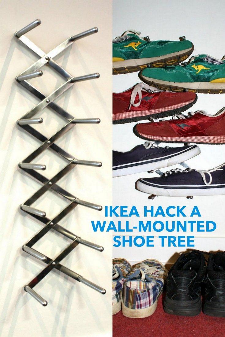 Slick & Modern Wall-Mounted Shoe Rack - IKEA Hackers - IKEA Hackers