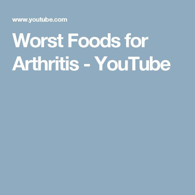Worst Foods for Arthritis - YouTube