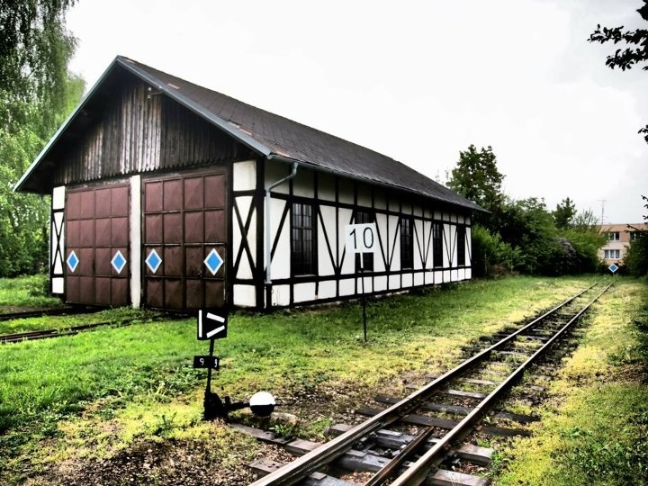 Nova Bystrice, end of the train track