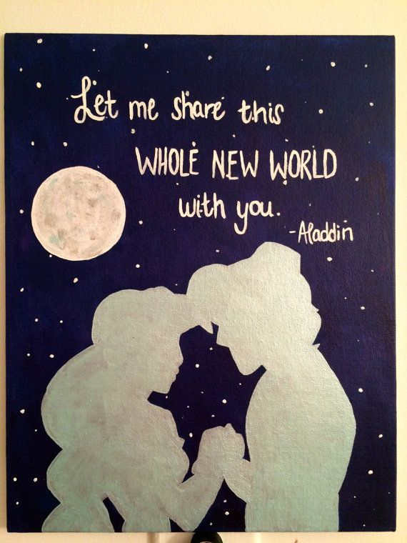 Disney Aladdin Silhouette Canvas  ~This is a picture of the original. Yours will look very similar, unless you want a custom Disney theme.