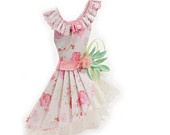 Sweet Lolita Pink Floral Haute Paper Fashion Art Dress: Doll Clothes, Paper Dolls, Dolls Clothing, Etsy Treasuri