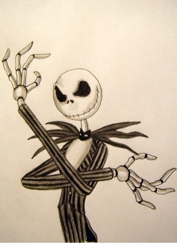 the pumpkin king another jack skellington sketch
