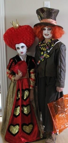 queen of hearts and mad hatter costumes halloween - Mad Hatter Halloween Costume For Kids