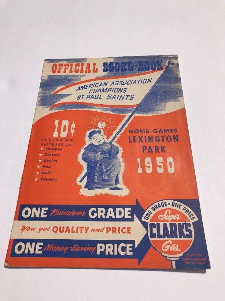 1950 St Paul Saints vs Minneapolis Millers Minor League Baseball Program | eBay
