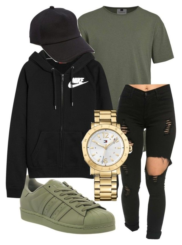 nike shoes Untitled #139 by kingrabia on Polyvore featuring Topman, adidas, NIKE, rag & bone and Tommy Hilfiger