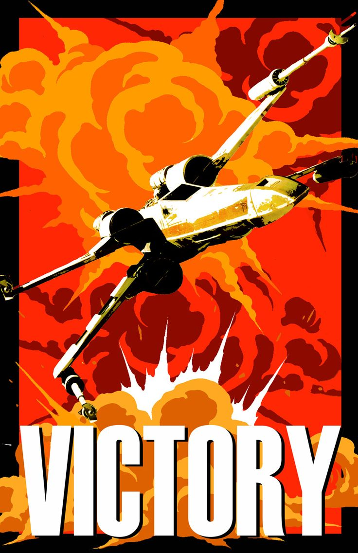 Star Wars - Victory poster. Not sure the artist. But very cool.