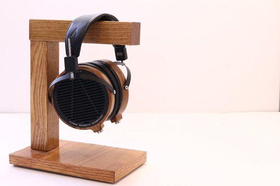 Unique Handmade Custom Headphone Stand I/Headphone by WoodWarmth, $35.00