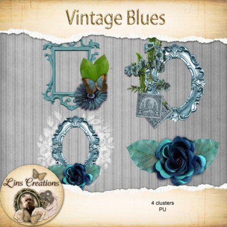 Vintage Blues clusters