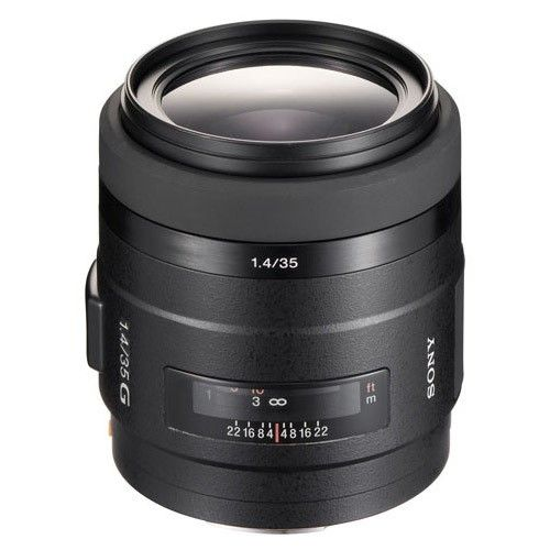 Sony - 35mm f/1.4 G A-Mount Wide-Angle Lens - Black