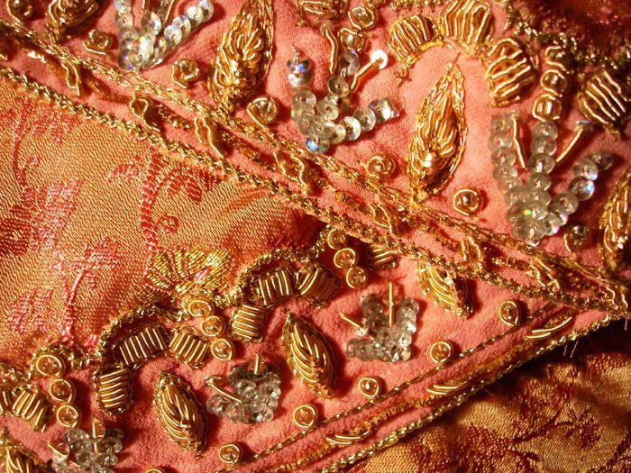 Exotic indian embroidery
