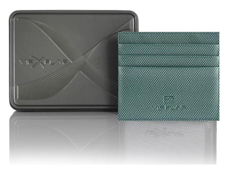 Vip Flap Portafoglio Wallet Porta Carte Linea Carbon Edition Verde