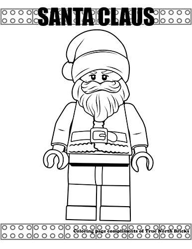Coloring Page Santa Claus True North Bricks Lego Coloring Pages Lego Coloring Santa Coloring Pages