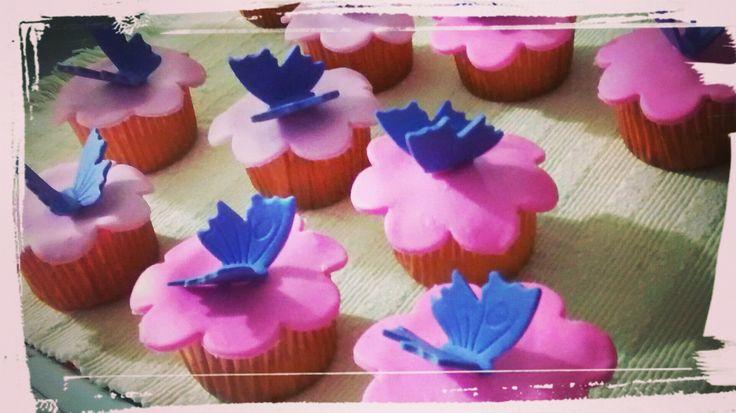 Cupcakes de Mariposas