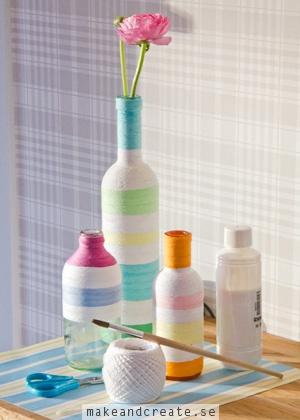 Garnlindade flaskor - Idébanken - Make & Create