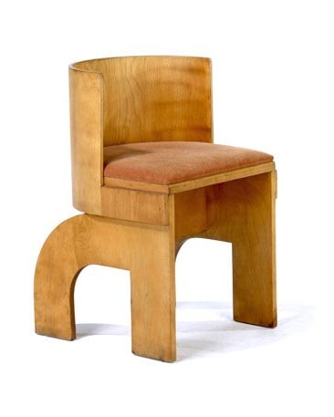 Gerald Summers; Bent Birch Plywood Children's Chair, 1930s.