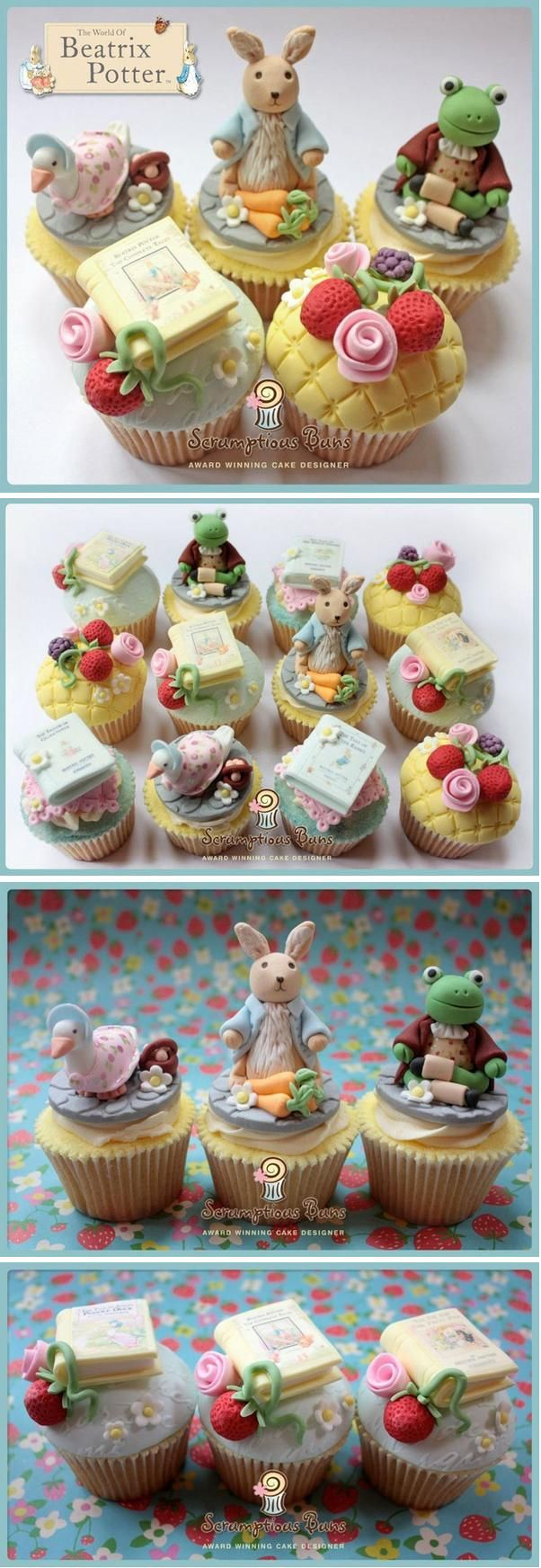 Beatrice Potter Cupcakes - These are amazing...more like a work of art really!!!