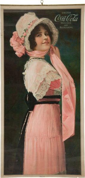 """1914 Coca Cola """"Betty"""" Calendar Top ~ Vintage Ephemera"""