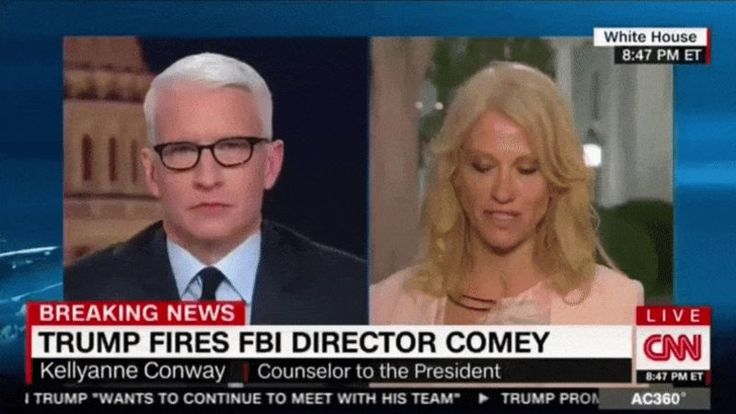 On Tuesday night, Anderson Cooper tried to make zombie White House spokesperson Kellyanne Conway grapple with the fact that Donald Trump has always praised James Comey for how he acted against Hillary Clinton during the 2016 election. It would then follow that his purported reasons for firing the FBI director were bullshit. Conway deflected the many clips of Trump rah-rahing Comey by switching the topic to Trump's win in Michigan, cueing the most viral eye roll of our century.