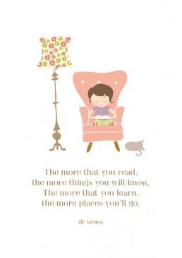 The more that you read...Dr Seuss Art Print