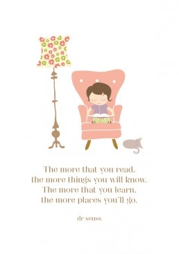The more that you read...Dr Seuss Art Print