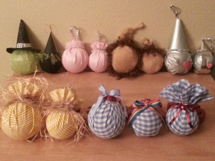 Created my wizard of oz ornaments used small and