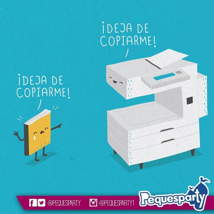 Deja de copiarme!  Ilustración cortesia: @wawawiwadesign  #miercoles #comic #fun #copiadora #cuaderno #lol #mcbo #zulia #vzla #activaciones #marketing #peques