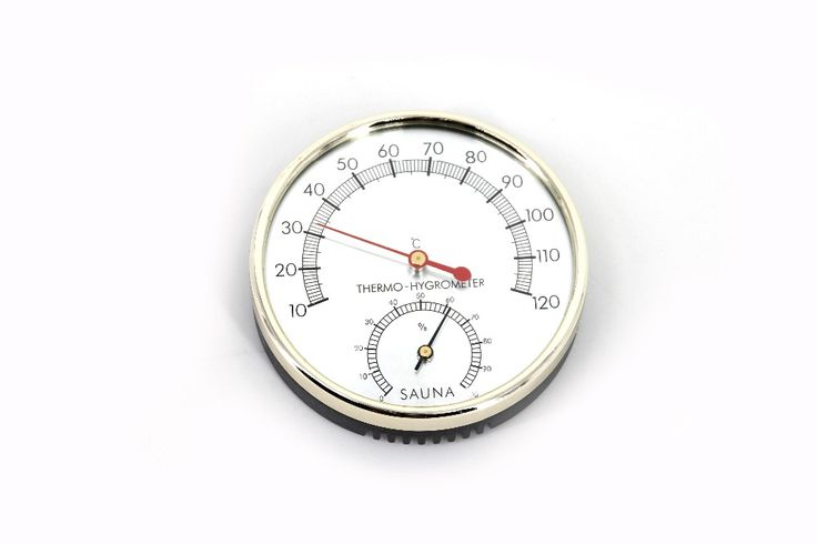 High quality New Sauna accessories stainless steel and plastic Temperature and humidity thermometer WJ-07