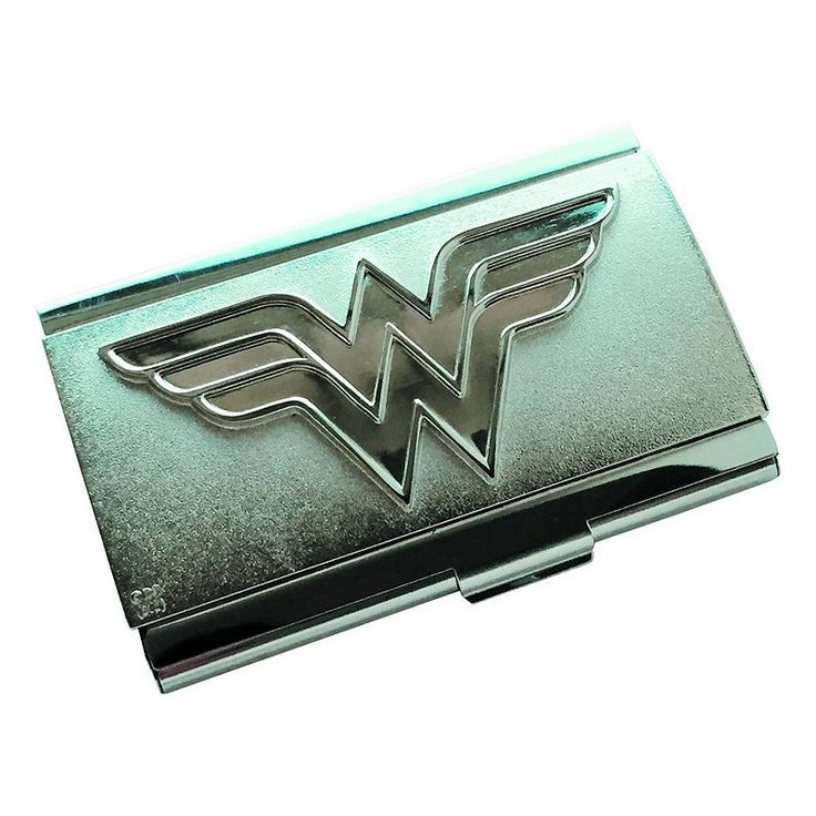 Wonder Woman Logo PX Business Card Case by Icon Heroes, Multicolor