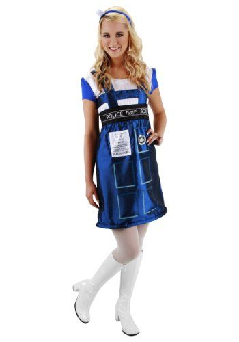Elope Women's Dr. Who Tardis Dress