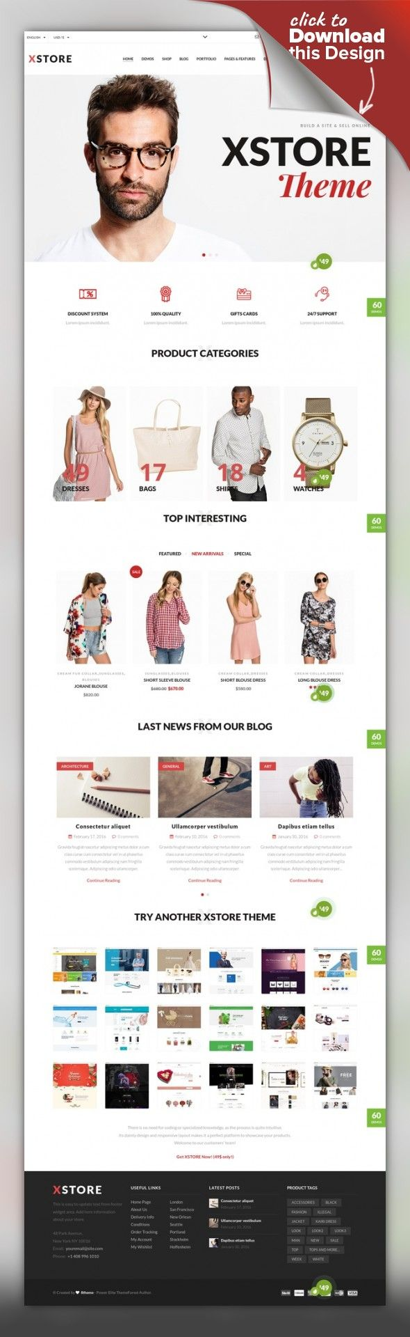XStore - Responsive WooCommerce Theme clean, e-commerce, flat, minimal, modern, one page, shop, store Latest Version 4.7.1 – October 04 Changelog Revolution Slider Attract more customers or potential clients to your website by incorporating spectacular slides with amazing animations in y...