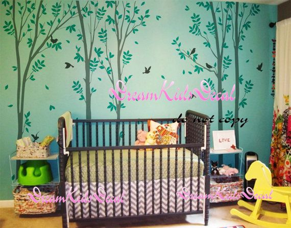 trees decalswall decals nature wall decals vinyl by DreamKidsDecal, $99.00