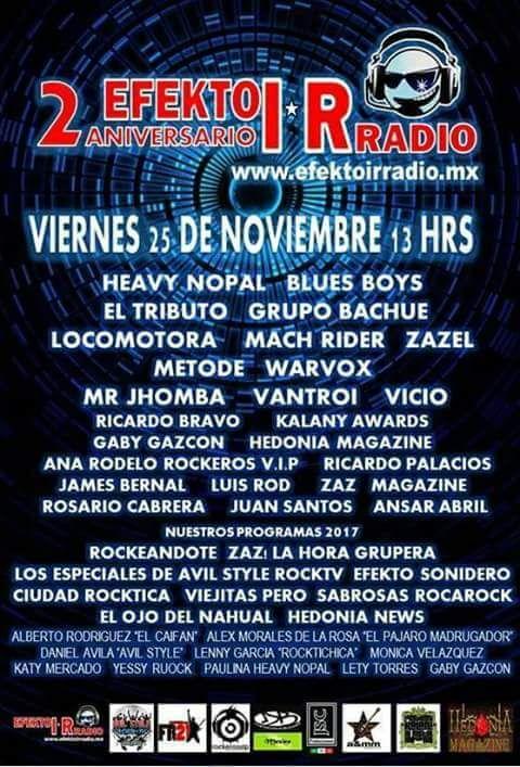 Segundo Aniversario de Efekto IR Radio