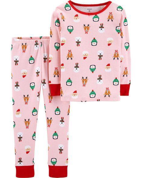 2-Piece Kid Christmas Snug Fit Cotton PJs  330051415