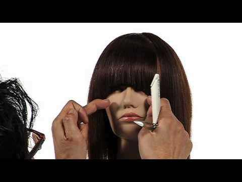 Learn how to cut a fringe using the Twist Cut technique in seconds; creating a fringe that is short in the center and longer toward the outsides. http://www.samvilla.com/education/d94_Twist%20Cutting%20Technique:%20Fringe.html