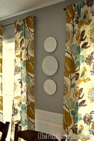 Hanging Plates On The Wall With DIY FREE Plate Hangers Dining Room CurtainsDining