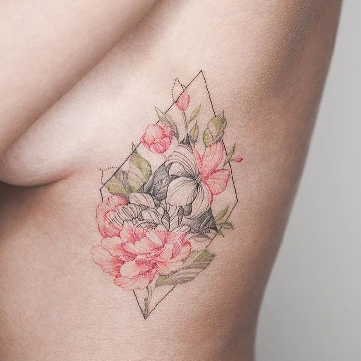 gorgeous floral tattoo