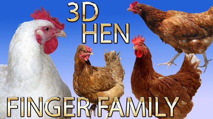 Hen Finger Family Nursery english 3d  rhymes |  Children Animated finger...