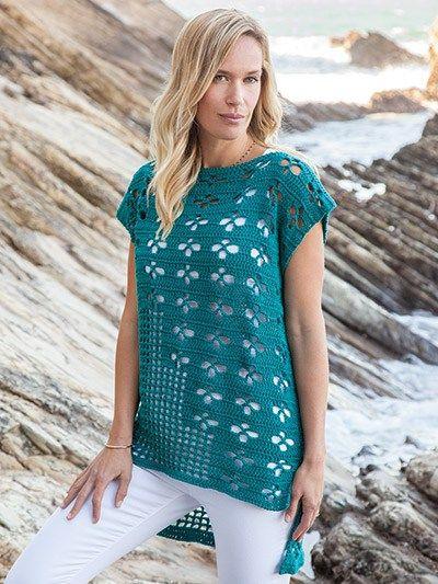 Crochet Pattern Tee Shirt featured on CrochetSquare.com