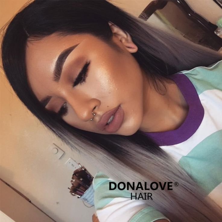 black to gray straight wig http://www.donalovehair.com/304-black-to-gray-straight-synthetic-lace-front-wig-sny079.html